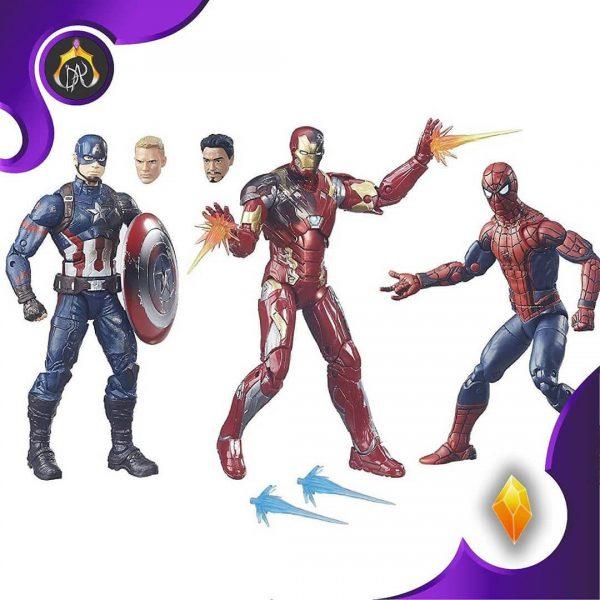 ست اکشن فیگور های Marvel Legends Captain America: Civil War 6-inch Figure 3-Pack