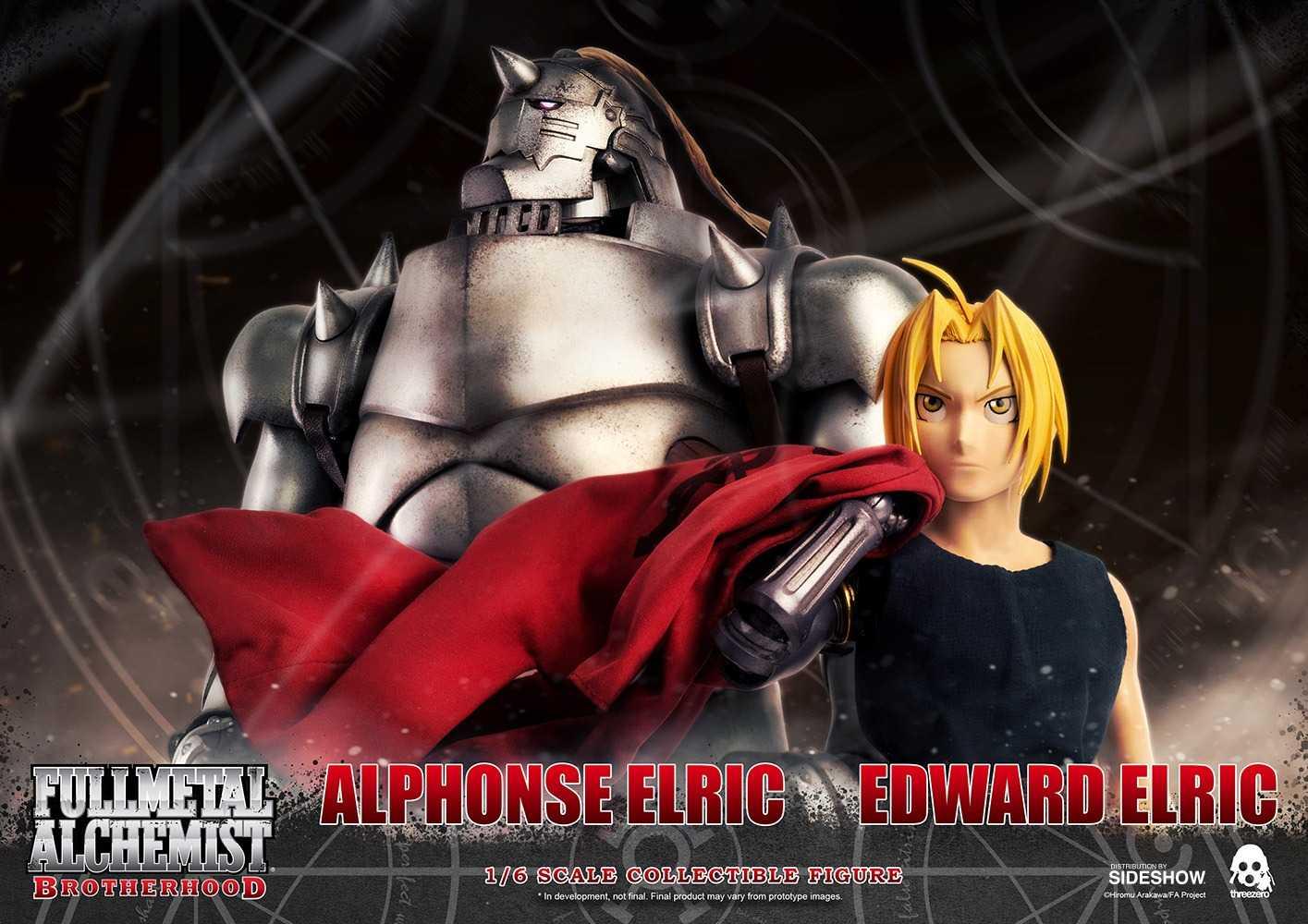 ست اکشن فیگور اِدوارد و آلفونسو الریک Full Metal Alchemist