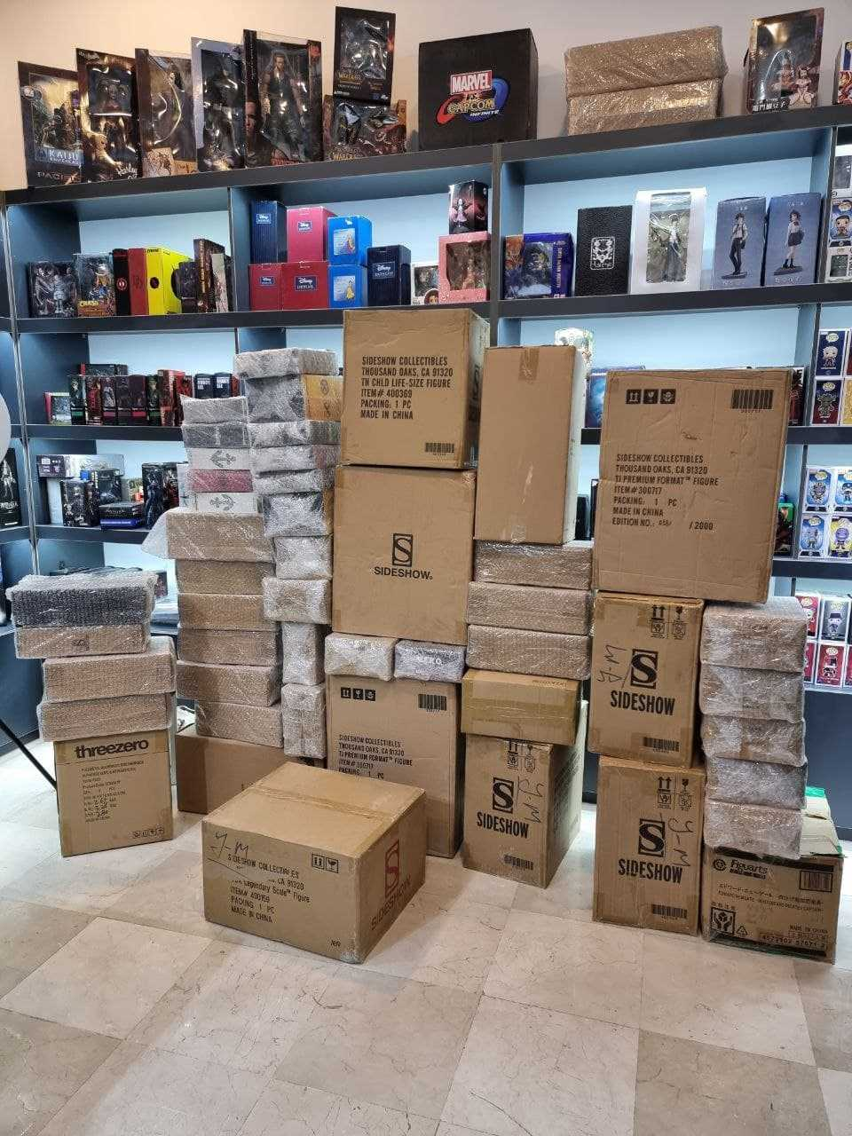تقریبا 99 درصد محصولات سایدشو داخل Brown Box یا به اصطلاح Shipper box ارسال میشن